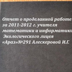 Отчет 2012 математика-информатика